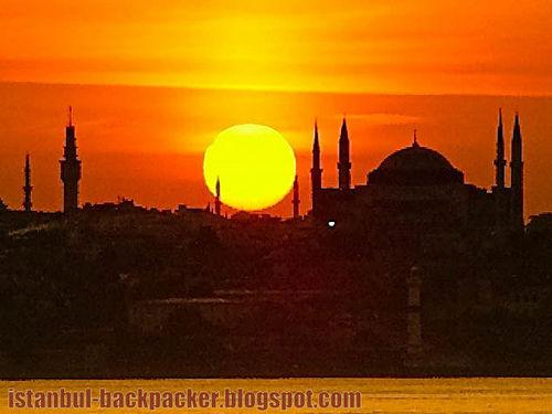 Sunset over Hagia Sophia, Istanbul